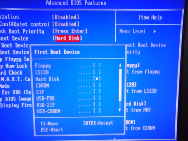 how to set your computer to boot from cd
