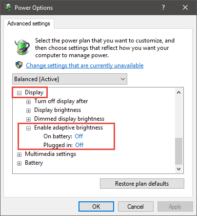 Screen brightness locked | Windows Forum