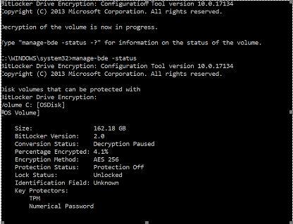BitLocker drive Decryption | Windows Forum