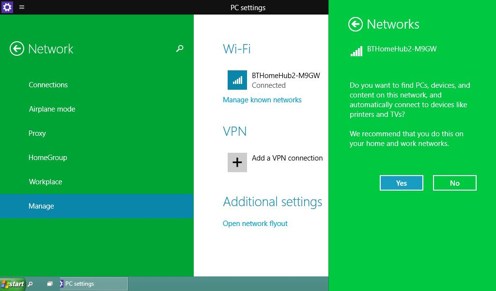 windows 10 how to change public network to private