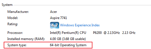 how to know what bit your computer is windows 7