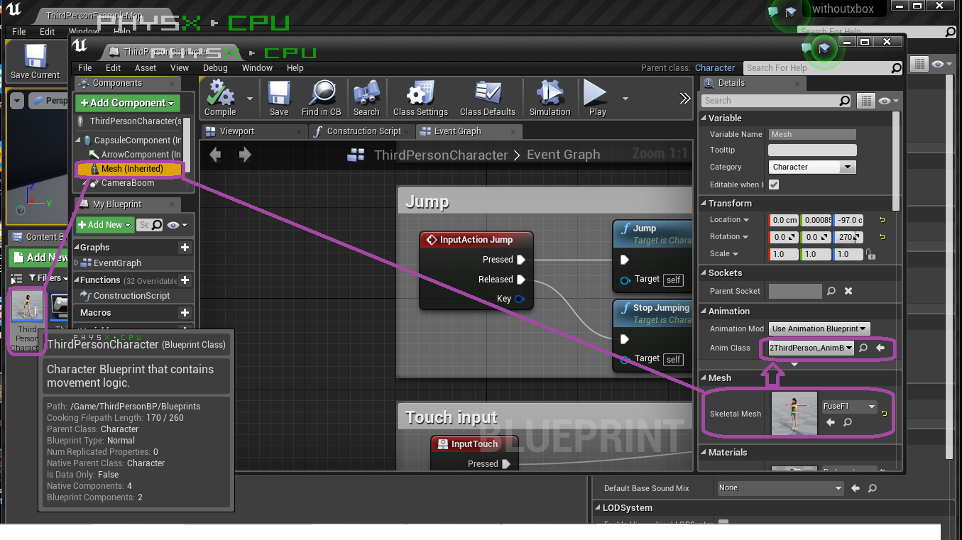How to get fuse characters working in unreal engine 415 windows forum screenshot 877g malvernweather Choice Image