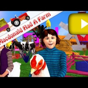 Old MacDonald Had A Farm - 3D Animation English Nursery Rhymes for children